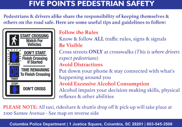 Drop-off/Pick-up Zone in Five Points – City of Columbia Police